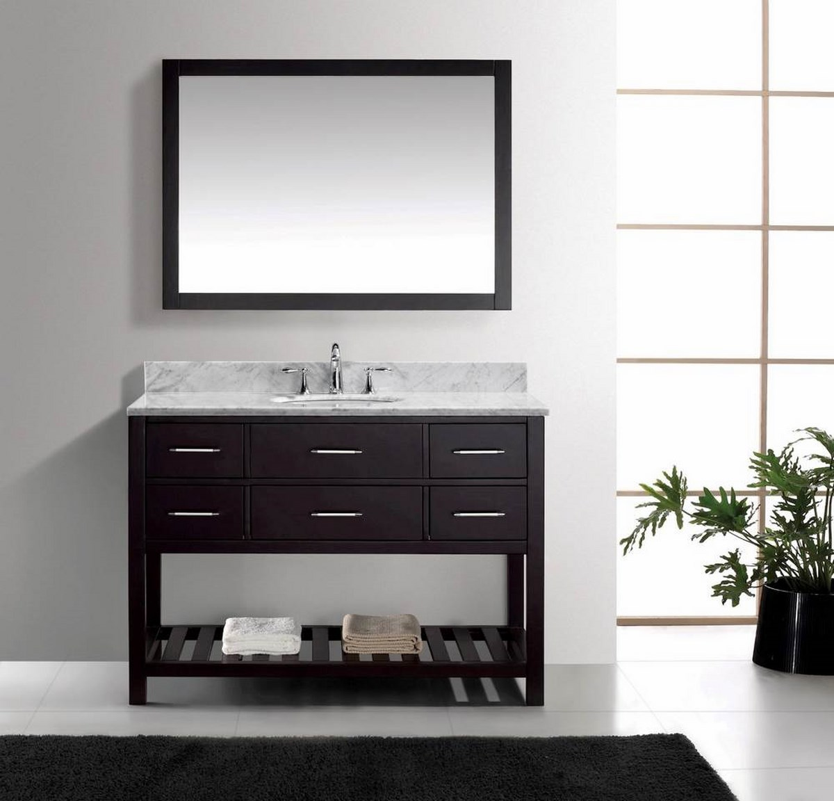 Estate 48 Inch Single Bathroom Vanity Cabinet Set  eFurniture Mart