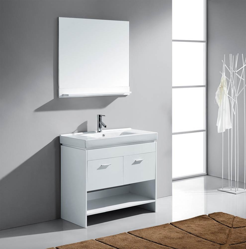 36 inch single bathroom vanity cabinet set in white efurniture mart