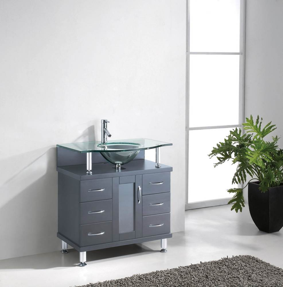 inch movern single bathroom vanity cabinet in grey efurniture mart