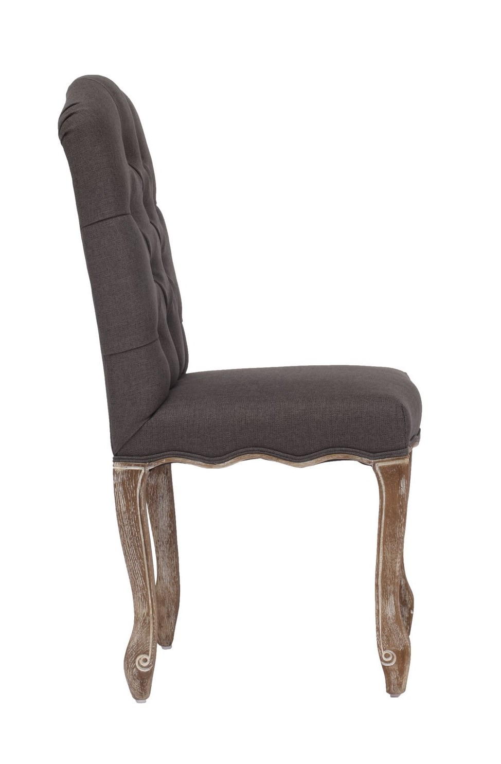 noe valley traditional dining chair in charcoal gray efurniture mart