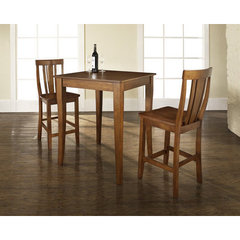 Buy Crosley Furniture 3 Piece 32x32 Pub Table Set w/ Cabriole Leg and Shield Back Stools in Classic Cherry on sale online