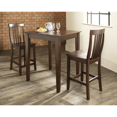 Buy Crosley Furniture 3 Piece 32x32 Pub Table Set w/ Tapered Leg and School House Stools in Vintage Mahogany on sale online