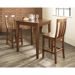 Buy Crosley Furniture 3 Piece 32x32 Pub Table Set w/ Tapered Leg and Shield Back Stools in Classic Cherry on sale online