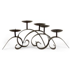 Buy IMAX Worldwide 3 Pillar Iron Candleholder on sale online