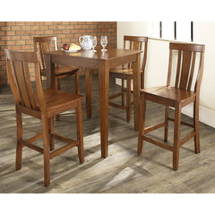 Buy Crosley Furniture 5 Piece 32x32 Pub Table Set w/ Tapered Leg and Shield Back Stools in Classic Cherry on sale online