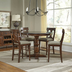 Buy A-America Furniture Andover 5 Piece 46x46 Counter Height Set w/ Bluestone Top in Antique Cherry on sale online