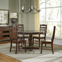 Buy A-America Furniture Andover 5 Piece 46x46 Dining Room Set w/ Bluestone Top in Antique Cherry on sale online