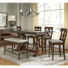 Buy A-America Furniture Andover 6 Piece 72x38 Counter Height Set w/ Bluestone Top in Antique Cherry on sale online