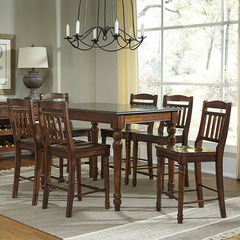 Buy A-America Furniture Andover 7 Piece 54x36 Counter Height Set w/ Bluestone Top in Antique Cherry on sale online