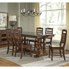 Buy A-America Furniture Andover 7 Piece 72x38 Dining Room Set w/ Bluestone Top in Antique Cherry on sale online