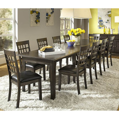 Buy A-America Furniture Bristol Point 11 Piece 60x38 Extension Dining Room Set in Warm Grey on sale online