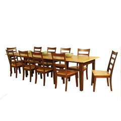 Buy A-America Furniture Bristol Point 11 Piece 78x42 Butterfly Leaf Dining Room Set in Honey Chestnut on sale online