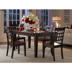 Buy A-America Furniture Bristol Point 5 Piece 60x38 Extension Dining Room Set in Oak Espresso on sale online