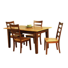 Buy A-America Furniture Bristol Point 5 Piece 78x42 Butterfly Leaf Dining Room Set in Honey Chestnut on sale online