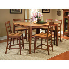 Buy A-America Furniture Bristol Point 7 Piece 54x36 Butterfly Leaf Counter Height Set in Honey Chestnut on sale online