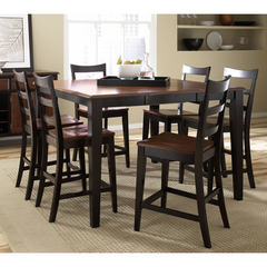 Buy A-America Furniture Bristol Point 7 Piece 54x36 Counter Table Set w/Ladder Back Chairs in Oak Espresso on sale online