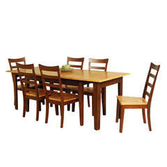 Buy A-America Furniture Bristol Point 7 Piece 78x42 Butterfly Leaf Dining Room Set in Honey Chestnut on sale online