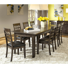 Buy A-America Furniture Bristol Point 9 Piece 60x38 Extension Dining Room Set in Warm Grey on sale online