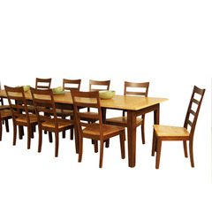 Buy A-America Furniture Bristol Point 9 Piece 78x42 Butterfly Leaf Dining Room Set in Honey Chestnut on sale online
