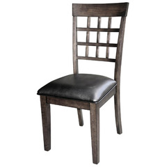Buy A-America Furniture Bristol Point Lattice Back Side Chair in Warm Grey on sale online