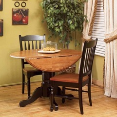 Buy A-America Furniture British Isles 3 Piece 42x26 Double Drop-Leaf Dining Room Set in Honey Espresso on sale online