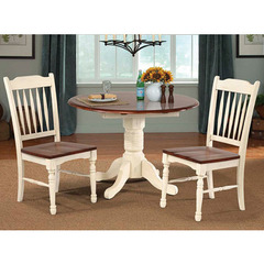 Buy A-America Furniture British Isles 3 Piece 42x26 Double Drop-Leaf Dining Room Set in Merlot Buttermilk on sale online