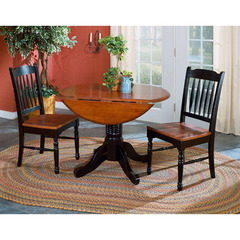 Buy A-America Furniture British Isles 3 Piece 42x42 Double Drop-Leaf Dining Room Set in Oak Black on sale online