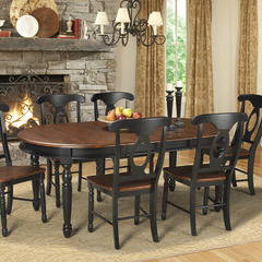 Buy A-America Furniture British Isles 52x42 Extension Dining Table in Oak Black on sale online