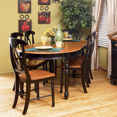Buy A-America Furniture British Isles 7 Piece 52x42 Extension Dining Room Set in Honey Espresso on sale online