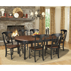Buy A-America Furniture British Isles 7 Piece 52x42 Extension Dining Room Set in Oak Black on sale online