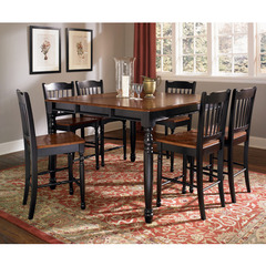 Buy A-America Furniture British Isles 7 Piece 54x54 Extension Counter Table Set in Oak Black on sale online