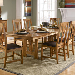 Buy A-America Furniture Cattail Bungalow 60x42 Extension Dining Table in Warm Amber on sale online