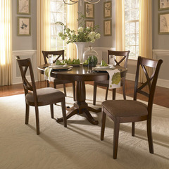 Buy A-America Furniture Desoto 5 Piece 42x42 Extension Dining Room Set in Burnished Sienna on sale online