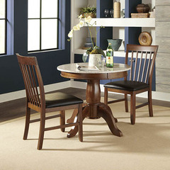 Buy A-America Furniture Granite Convertible 3 Piece 34x34 Dining Room Set in Brown Java on sale online