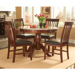 Buy A-America Furniture Granite Convertible 5 Piece 44x44 Dining Room Set in Brown Java on sale online