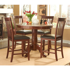 Buy A-America Furniture Granite Convertible 5 Piece 44x44 Gatherin Table Set in Brown Java on sale online