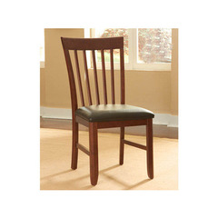Buy A-America Furniture Granite Convertible Slatback Side Chair w/ Upholstered Seat in Brown Java on sale online