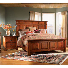 Kalispell 2 Piece Mantel Bedroom Set in Rustic Mahogany