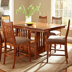 Buy A-America Furniture Laurelhurst 56x42 Butterfly Leaf Gathering Height Table in Mission Oak on sale online