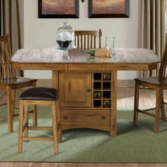 Buy A-America Furniture Laurelhurst 56x42 Butterfly Leaf Gathering Height Table in Rustic Oak on sale online