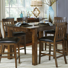 Buy A-America Furniture Mariposa 64x38 Butterfly Leaf Gathering Height Table in Rustic Whiskey on sale online