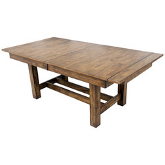 Buy A-America Furniture Mariposa 78x40 Butterfly Leaf Trestle Dining Table in Rustic Whiskey on sale online