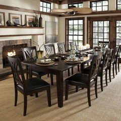 Buy A-America Furniture Montreal 11 Piece 60x38 Extension Dining Room Set in Rich Cognac on sale online