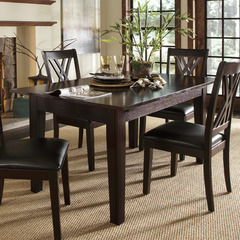 Buy A-America Furniture Montreal 60x38 Rectangular Extension Dining Table in Rich Cognac on sale online