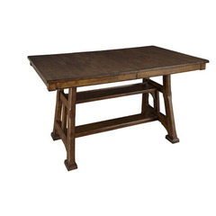 Buy A-America Furniture Ozark 66x40 Butterfly Leaf Trestle Gathering Height Table in Warm Pecan on sale online