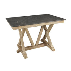 Buy A-America Furniture West Valley 60x38 Bluestone Gathering Height Table in Rustic Wheat on sale online