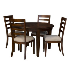 Buy A-America Furniture Westlake 5 Piece 48x48 Dining Room Set w/ Ladderback Chairs in Cherry Brown on sale online