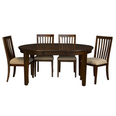 Buy A-America Furniture Westlake 5 Piece 48x48 Dining Room Set w/ Slatback Chairs in Cherry Brown on sale online