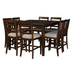Buy A-America Furniture Westlake 9 Piece 36x54 Gathering Table Set in Cherry Brown on sale online