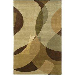 Buy Chandra Rugs Aadi Hand-Knotted Contemporary Brown Rug - AAD1315 on sale online